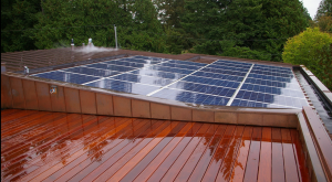 Vancouver residence solar power, hot water, and pool installation