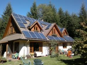 Bowen Island residence solar power installation