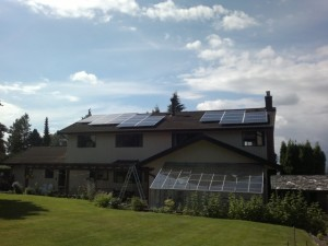 Burnaby Residence Solar Power Installation
