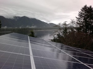 Tofino residence solar power installation