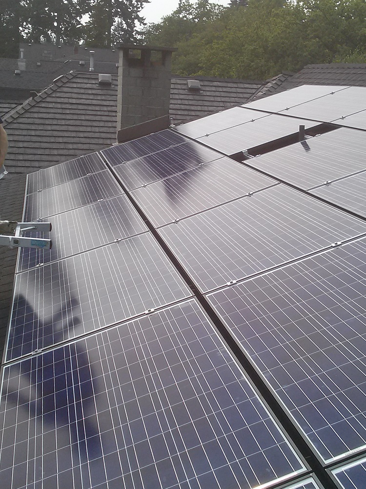 Vancouver residence solar power installation